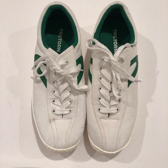 276717333 Tretorn Shoes | Nylite Plus White W Green | Poshmark